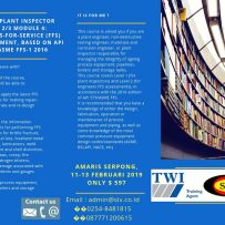 CSWIP Plant Inspector Levels 2/3 Module 2: Damage Assessment for RBI and FFS, based on API RP 571